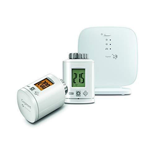Gigaset heating pack (Thermostat-Set zur smarten Heizungssteuerung mit zwei Energiesparreglern - App gesteuertes Heizsystem für weniger Heizkosten)