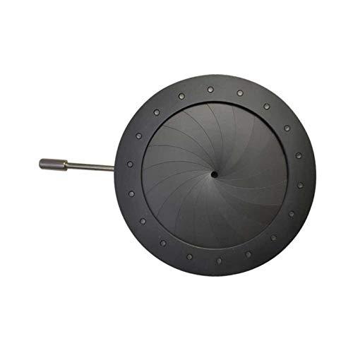 CenYC Diafragma de Apertura, microscopio Diafragma de Apertura Núcleo del Condensador Adaptador de cámara de Apertura de Iris Ajustable Condensador de Apertura de Metal portátil (2,5-42 mm)