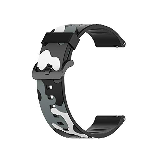 Yoobuu 20mm Silicone Cinturino Compatibile con Garmin Vivoactive 3/Vivomove HR/Forerunner 245/645 Music/Huawei Watch 2
