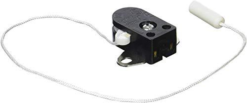 Legrand 091164 Mini Interrupteur à Tirette avec Plaque 2 Trous, 2A, 250V, Blanc