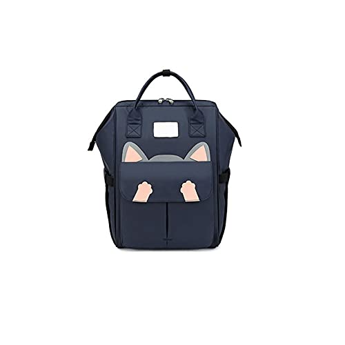 ZWRY Mochila infantil Mochilas grandes para estudiantes de secundaria, mochila para estudiantes, mochila atractiva para viajes, mochilas impermeables para niños, azul marino