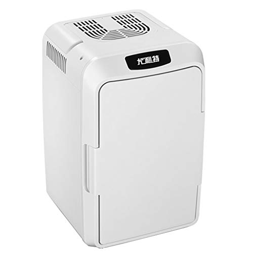 Petit réfrigérateur de 12 litres, Mini-réfrigérateur Double Usage pour Voiture/Maison - Silencieux, à Trois étages, Double Usage Froid/Chaud, idéal pour Les Chambres à Coucher, Les Bureaux, etc.