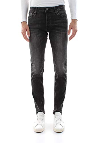 JACK & JONES Jjiglenn Jjoriginal AM 817 Noos Jeans, Denim Nero, 32W Uomo