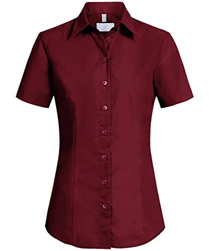 GREIFF Damen-Bluse Basic, Regular Fit, Stretch, Easy-Care, 6516, Bordeaux, Größe 42