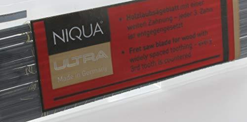 Laubsägeblätter NIQUA ULTRA Holzlaubsägeblätter Nr: 5 Abmessung 0,38 mm x 0,93 mm Dutzend