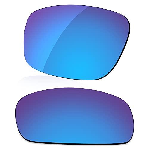 LenzReborn Reemplazo de lente polarizada para gafas de sol Costa Del Mar Reefton - Más opciones, Azul Hielo - Espejo polarizado, Talla única