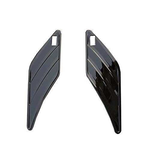 furong 2pcs Auto Ventilatore Autoadesivo Lato parafango Adesivo Adatto per Audi ABT RS3 RS4 RS5 RS5 RS6 A6 C6 C5 A1 A3 8P A4 B8 B6 A5 A7 A8 Q5 Q7 TT R8 ABT (Color : Black Type 2)