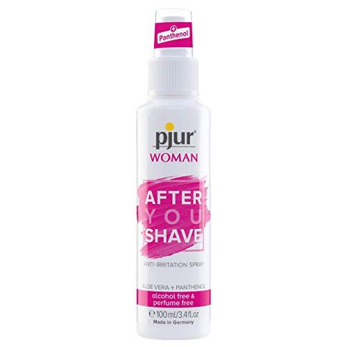 pjur WOMAN After YOU Shave - Spray nourrissant au panthénol - Pour la région intime sensible des femmes - Pack de 1 (1 x 100 ml)