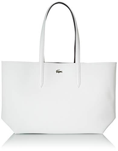 Lacoste NF2142AA, Bolsa de transporte para Mujer, Blanc Noir, Taille unique