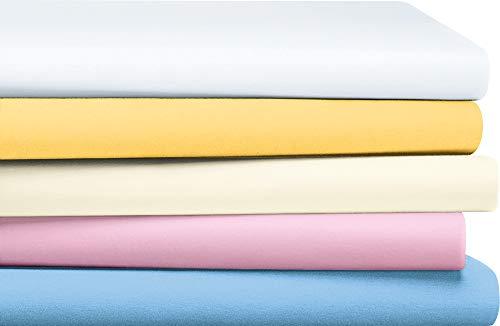 Erwin Müller Baby-Spannbettlaken Rosenheim Single-Jersey weiß Größe 40x70 cm oval