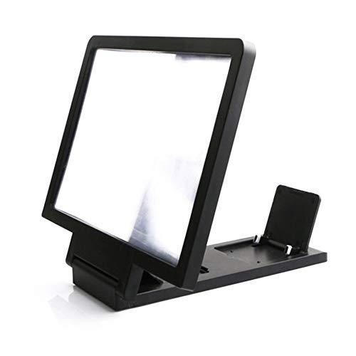 RoxTop Tragbare Größe Augenschutz 3D Vergrößerungs Screen-Handy-Verstärker Lupe Halter Mobiltelefon-Halter Halterung schwarz