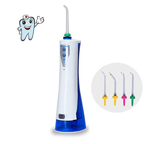 ACLBB Waterflipper, voor tanden, draagbaar, IPX7, waterdichte tandzijde met 4 spray voor thuis en op reis, bretels en brug