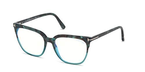 Tom Ford Gafas de Vista FT 5599-B BLUE BLOCK Havana Light Blue 54/17/140 unisex