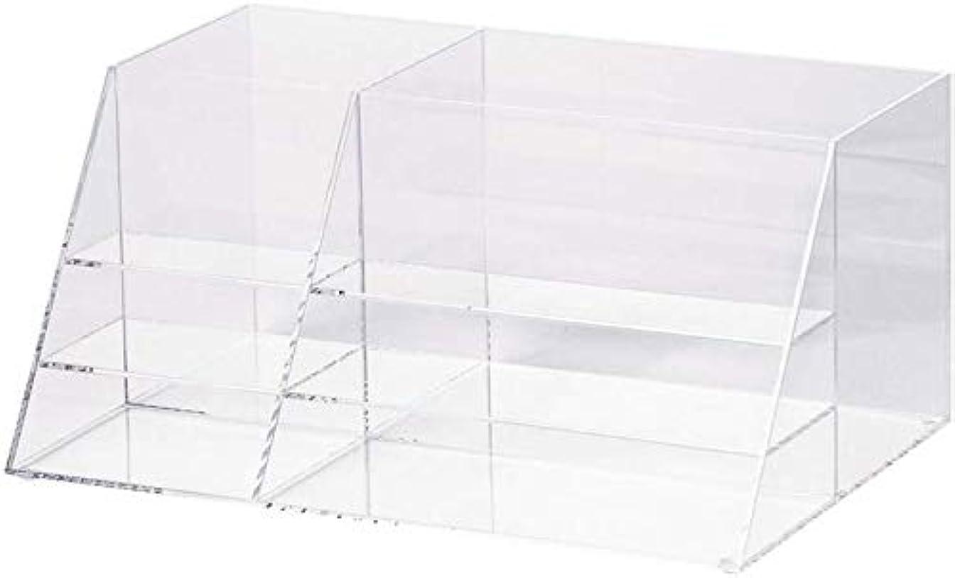 リアルインタフェースいじめっ子化粧品オーガナイザー透明化粧品収納ボックス仕上げボックススキンケアラック