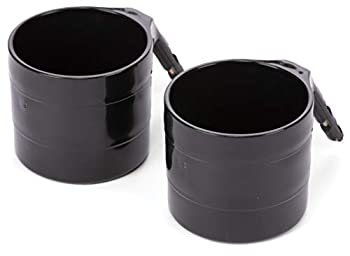 Diono Cup Holder for Radian Everett and Rainier Car Seats Black  2-Pack