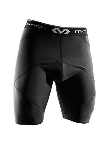 McDavid Super Cross Compression Short with Hip Spica, Black, Small