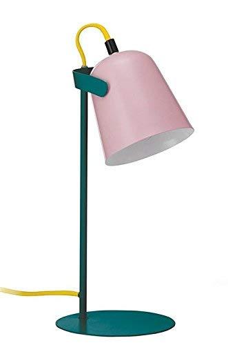 Preisvergleich Produktbild FISURA LT0745 Schreibtischlampe Led Chloe Rosa 37cm Mehrfarbig Lampe Retro Design Tischdekoration Nachttischlampe