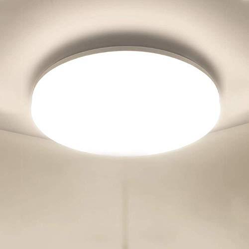 Plafoniera LED Soffitto Moderna 48W Plafoniere da Soffitto Ketom Bianco Naturale 4500K Ultra Magro Pannello LED Rotondo Ø30CM 4320LM IP44 Lampada da Soffitto per Corridoio, Bagno, Camera da letto