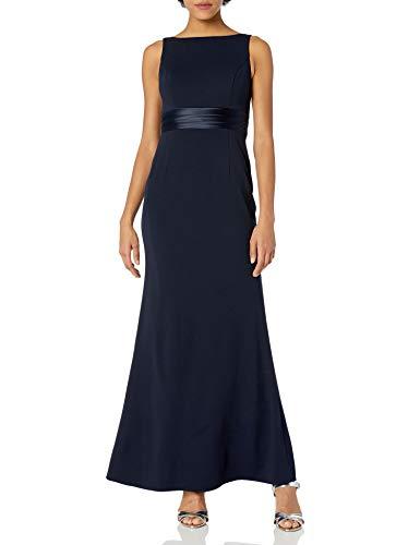 Adrianna Papell Women's Knit Crepe Dress, Midnight, 8