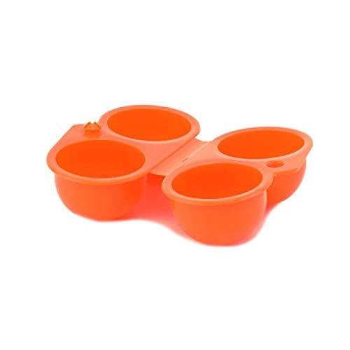 Caja de almacenamiento de huevos portátil de 2 rejillas de plástico portátil para acampar al aire libre