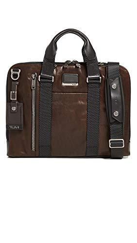 Tumi Alpha Bravo - Aviano Slim 15' Briefcase, 40cm, 4.6L, Dark Brown Leather