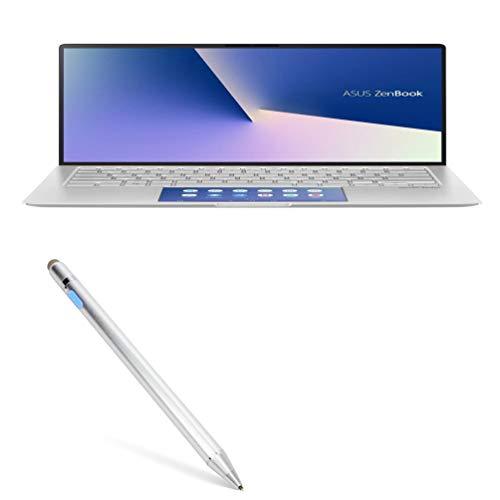 Caneta Stylus ASUS ZenBook 14 UX433FLC, BoxWave [AccuPoint Active Stylus] Stylus eletrônica com ponta ultrafina para ASUS ZenBook 14 UX433FLC - Prata metálica