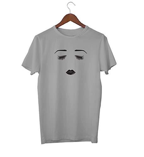 KLIMASALES Femme Fatale Gezicht Mascara Lipstick_KK016646 Shirt T-shirt voor Heren - Grijs
