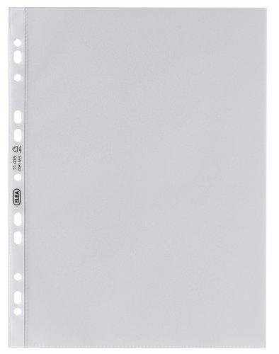 ELBA 100460989 Prospekthüllen Premium 25 Stück für DIN A4 0,12 mm glasklar OHP geeignet Universallochung PP-Kunststoff Klarsichtfolie Plastikhülle Klarsichthülle ideal für Ordner Ringbücher und Hefter
