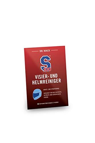 Dr. Wack - S100 Visier- & Helmreiniger Tuch I Premium Visier-Reiniger für alle Motorradhelme I Für die schnelle Reinigung unterwegs I Hochwertige Helmpflege – Made in Germany