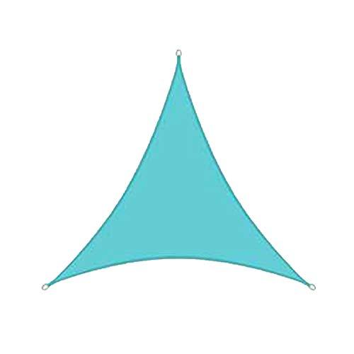 Vela De Sombra, Protector Solar Impermeable para Jardín Triangular De Polietileno De Alta Densidad para Exteriores Y Toldo A Prueba De Rayos UV (3.6 * 3.6 * 3.6m,Azul Lago)