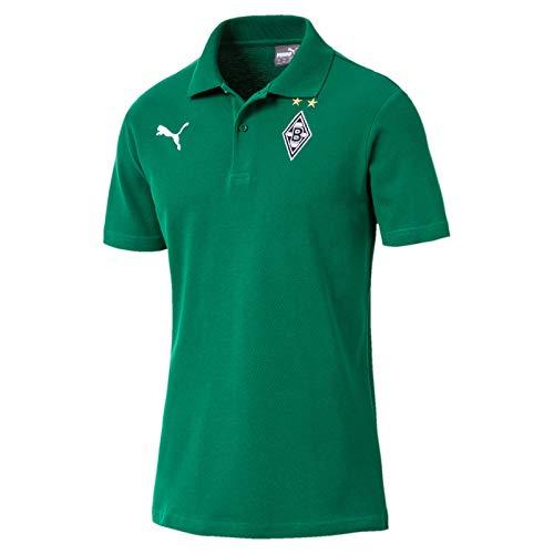 Puma Fußball Borussia Mönchengladbach BMG Wappen Polo-Shirt Herren Grün Gr XXXL