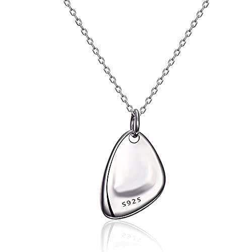 MTWERS Joyería personalidad luz de lujo plata 925 en tendencia par modelos de collar desviación (color: A126, tamaño: L126)