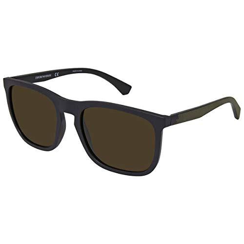 Emporio Armani 0EA4132 Gafas de sol, Matte Black, 57 para Hombre