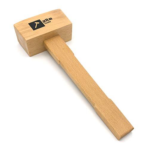 Zite Tools Schreiner-Klüpfel 30cm - Klopfholz 290g - Holz-Hammer Schnitz-Werkzeug für Stecheisen & Stemm-Eisen