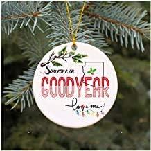 Belle10Bob Julprydnader 2019 familj någon i Goodyear Arizona älskar mig AZ julklappar söt uggla familj minnessak present j...