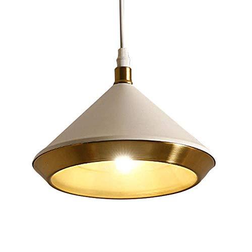 Lámpara colgante LED retro Lámpara colgante interior blanca Paraguas de metal Paraguas G9 Lámpara de diseño Sala de estar Mesa de comedor Oficina Dormitorio Escalera Lámpara de pasillo