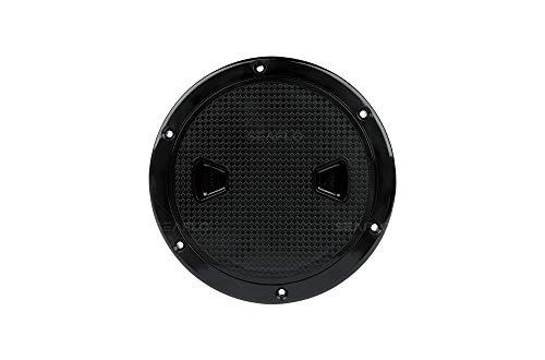 SEAFLO 10,2 cm – 20,3 cm große, schwarze, runde Inspektionsluke mit abnehmbarer Abdeckung (15,2 cm)