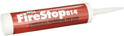 NSi Industries, LLC Firestop814 Residential and Non-Intumescent Commercial Fire Stop, 10.3 oz Caulk Tube, Red - FS-814