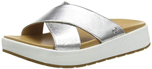 UGG Australia Damen W EMILY Sandale, Silberfarben metallisch, 43 EU