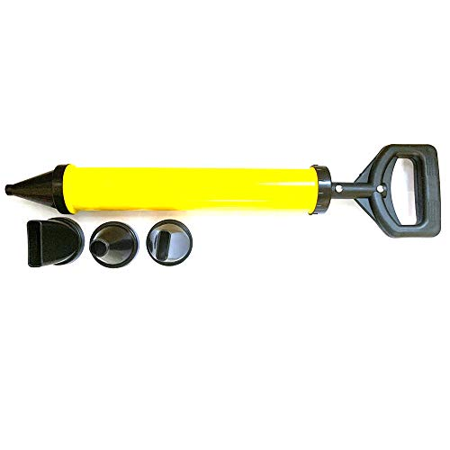 JVJ Pistolet à joints pour mortier avec accessoires et seringue à mortier avec 4 buses