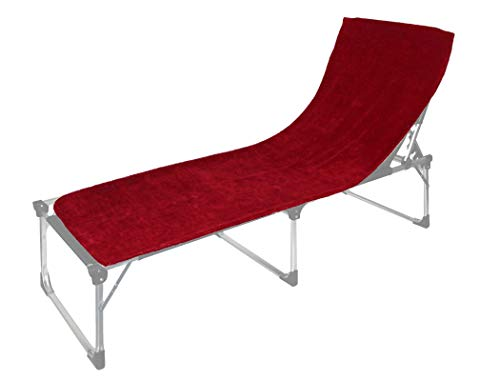 Floringo 2er Pack Schonbezug für Sonnenliege Gartenliege 70x200 Twin-Star 95° waschbar-rubinrot