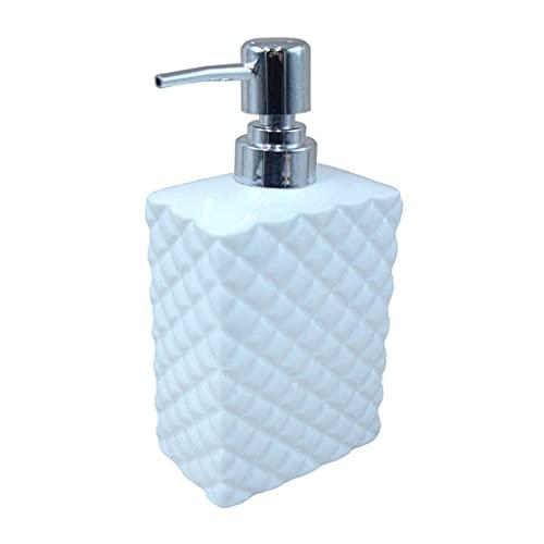 Dispensador de jabón Duradero Baño Cuadrado de cerámica Recargable Dispensador de jabón para Platos Dispensador de jabón Botella de Bomba para encimera de tocador, Bomba de jabón p