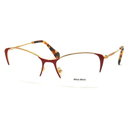Occhiali da vista Miu Miu MU50OV UA41O1 rosso red eyeglasses sehbrille donna