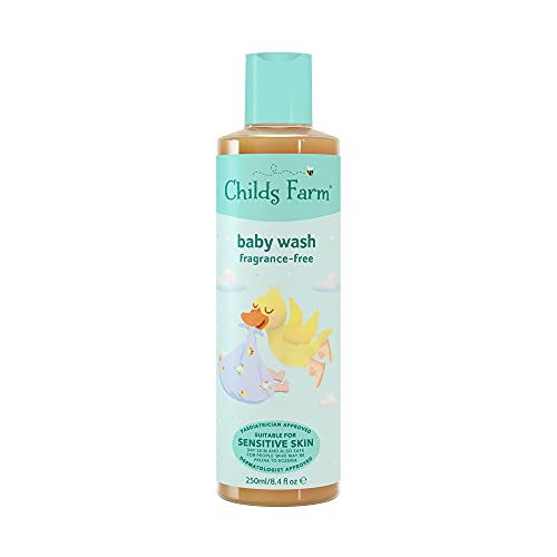 Childs Farm - Baby Body Wash, Gently Cleanses & Moisturises, Sensitive Skin, Unfragranced, Suitable for Newborns, 250ml
