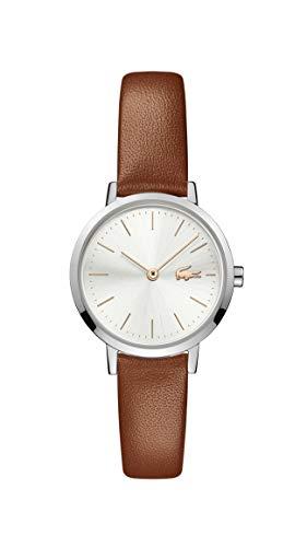 Lacoste Damen Analog Quarz Uhr mit Leder Armband 2001118