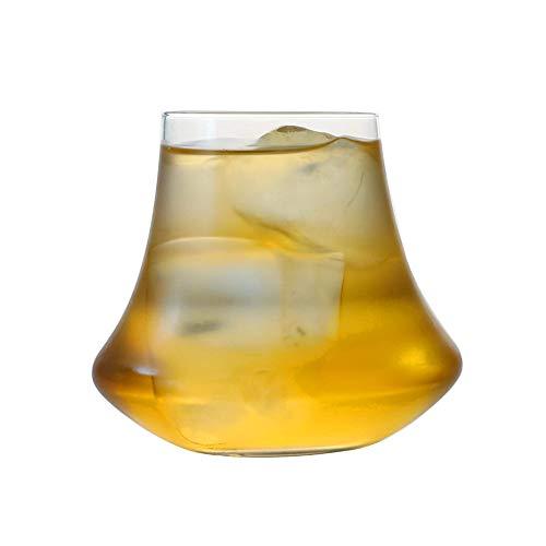 LaMei Yang Kristallwhiskyglas, Cocktailglas mit modernem und elegantem Design, altmodisches Glas mit dickem mundgeblasenem Kristall, geeignet für Familienbar