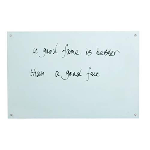 "Magnetic Glass Dry-Erase Board,White Board Set Frameless - 35 1/2"" X 47 1/4""(90 X 120cm) - Includes Board,Magnets,Marker and Pen Holder Eraser"