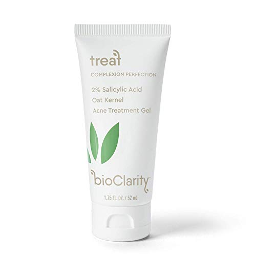 bioClarity Acne Treatment Gel | 2% Salicylic Acid + Moisturizing Oat Kernel | 100% Vegan, Clean Ingredients | 1.75 fl. oz.