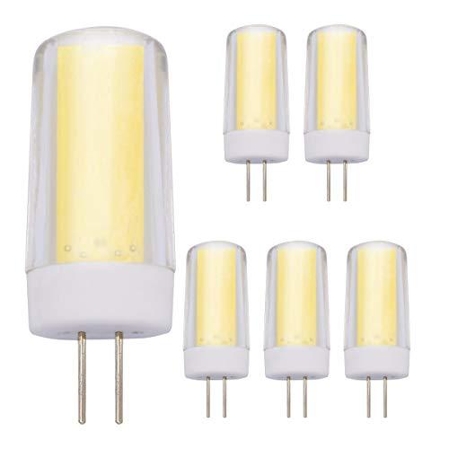 Bombillas LED G4 Regulables De Luz Blanca Fría 6000 K Base De 4 W Equivalente a 30 W-35 W Bombilla Halógena De Bajo Consumo Para Iluminación Del Hogar, Luces De Debajo Del Armario (Paquete De 5)