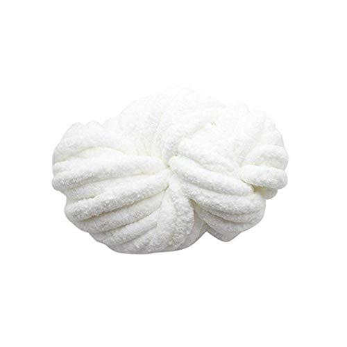 WUSHUN Ovillo de lana Chunky, 18 m, para hacer ganchillo, perfecto para tejer a mano, para hacer...